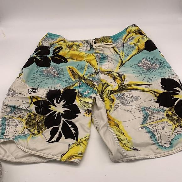 Billabong Hawaii themed men's swim suit